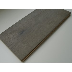 Wide Plank European Oak Wire brushed Engineered Floors Dove Grey Color