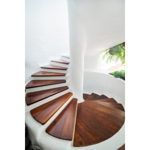 Made To Size Wood Stair Treads For Spiral Staircase