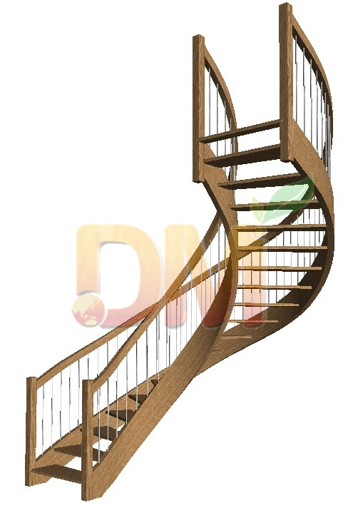 Curved wood staircases from China Decor Wood