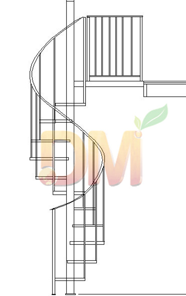 Spiral Wood staircases from China decor Wood